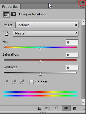 Make Hue-Saturation Adjustment